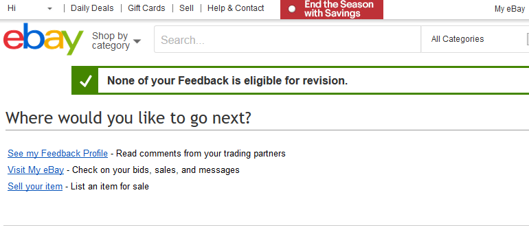 How To Change Feedback On Ebay