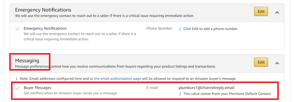 Amazon Buyer Messages E-mail