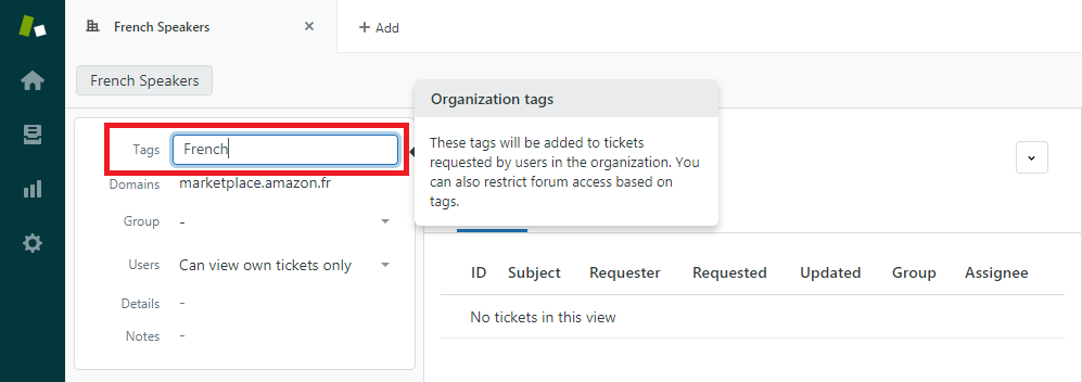 Adding a Tag to a Zendesk Organization