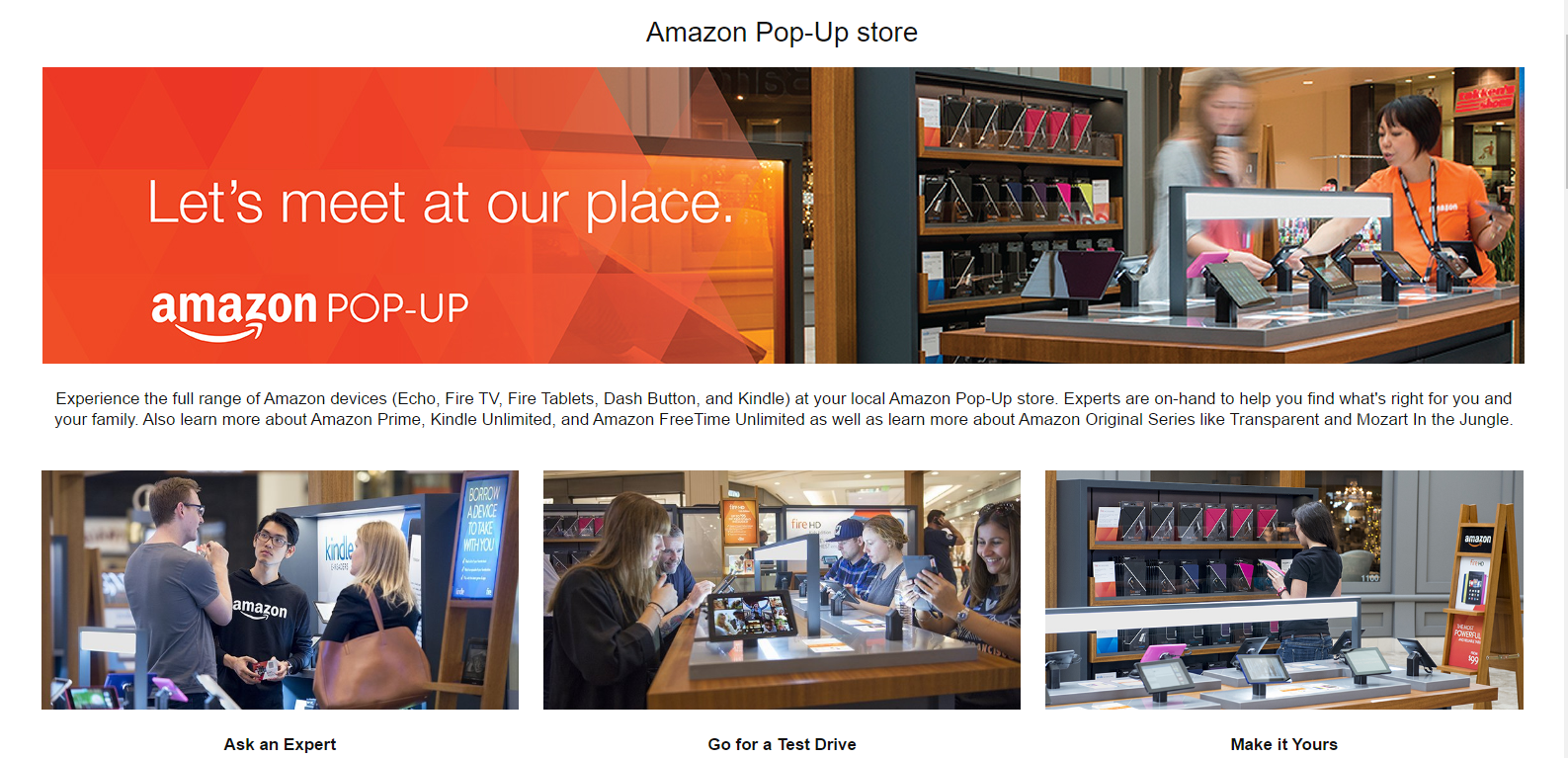 Amazon Pop-Up Stores: More Expected in 2017