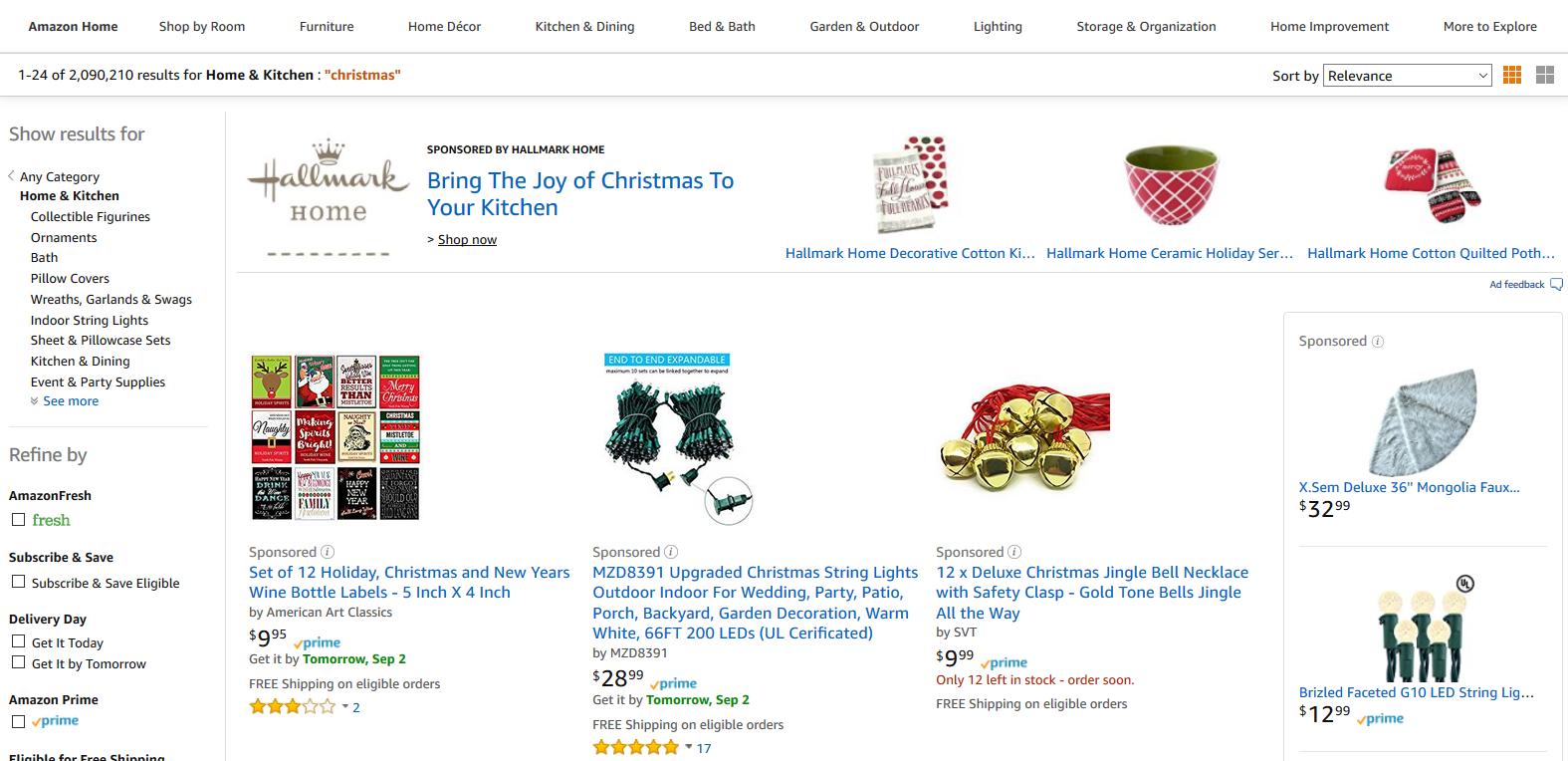 Christmas Products on Amazon