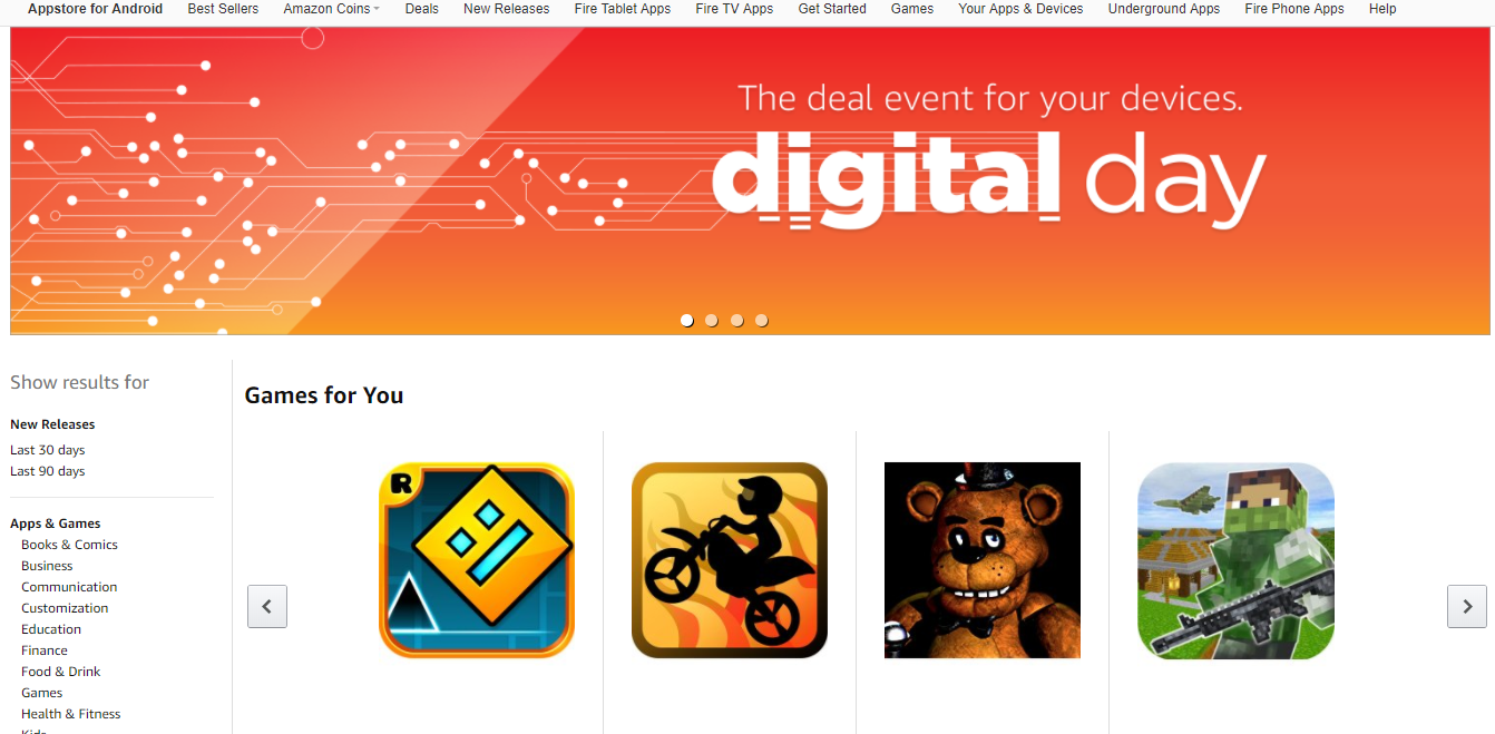 Digital Day on Amazon