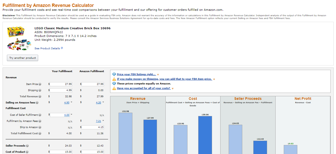 Amazon FBA Fees