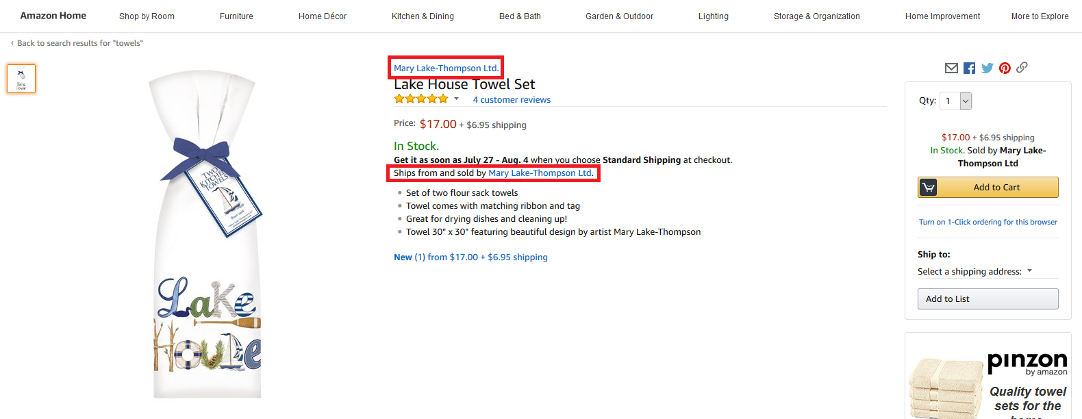 Kitchen Towels for Sale by Manufacturer on Amazon