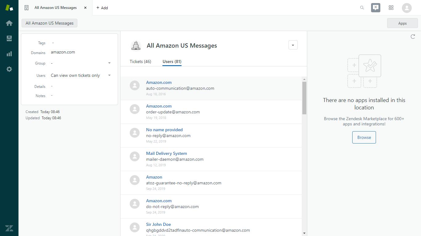 Amazon US Messages Organization