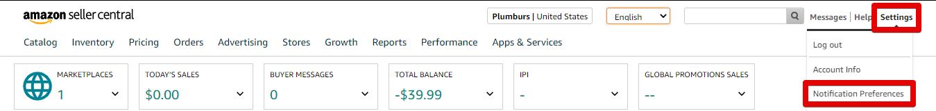 Amazon Notification Preferences