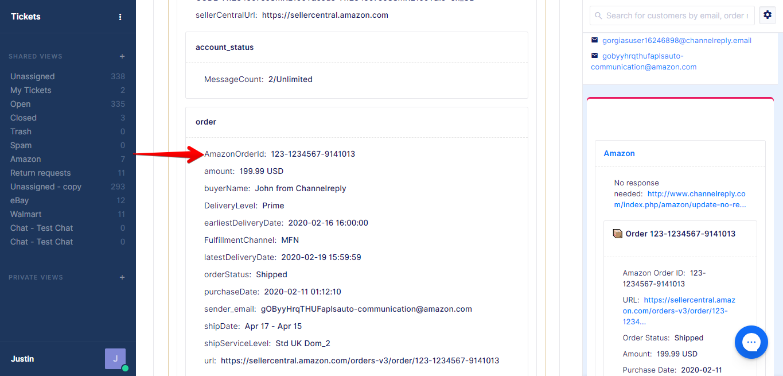 Amazon Order ID Gorgias Variable
