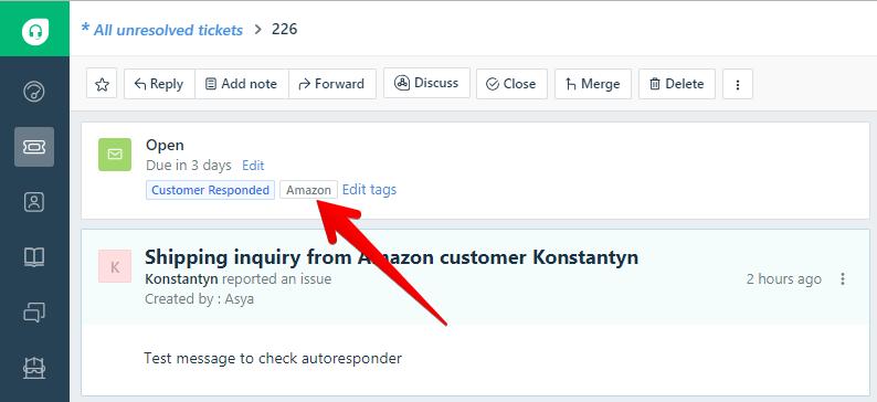 Amazon Tag on Freshdesk