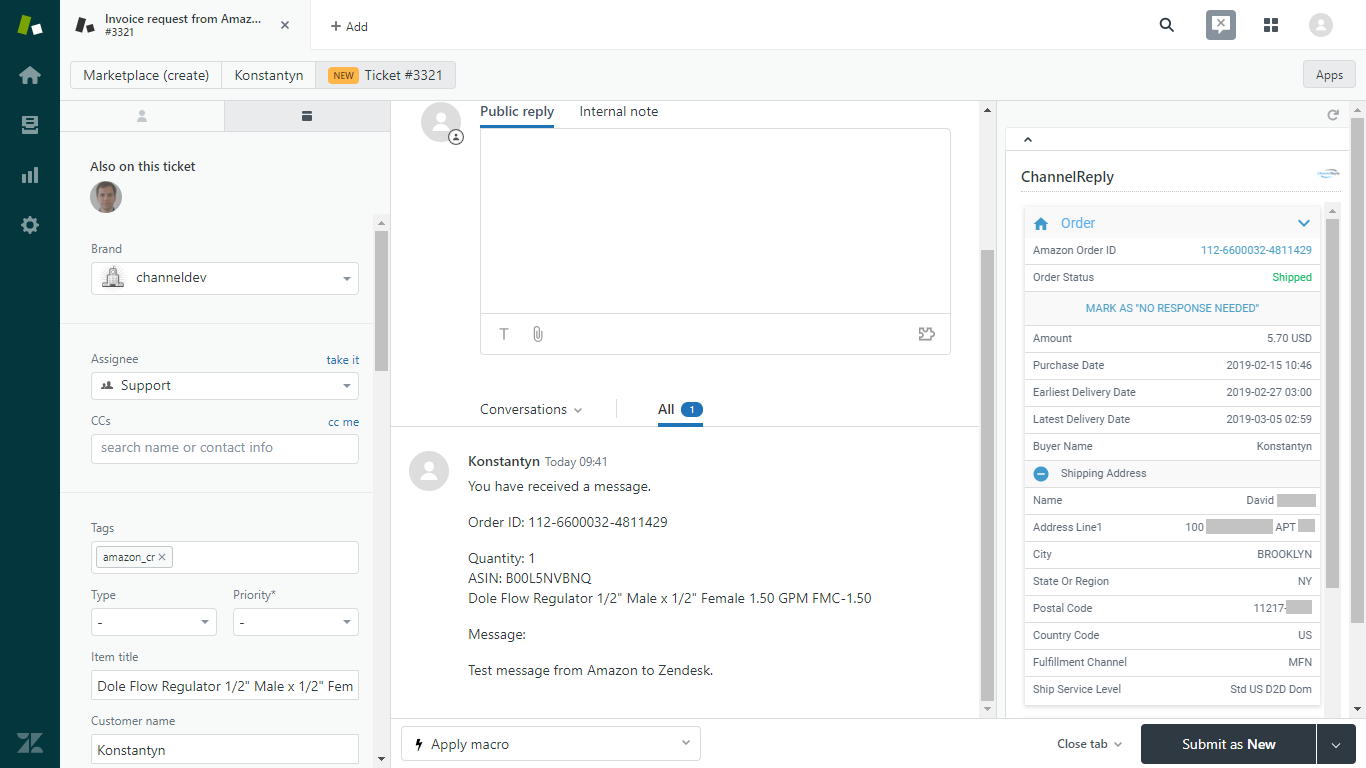 ChannelReply in Zendesk