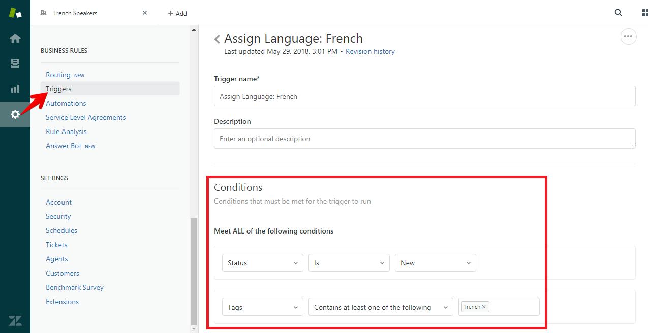 Auto-Assign Language Trigger Conditions