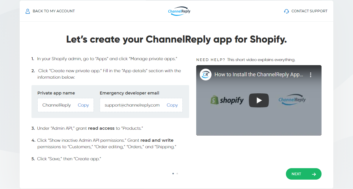 Integrating Shopify with ChannelReply