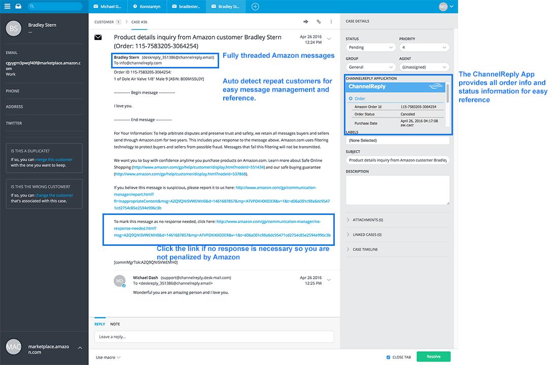 Using Desk.com to Provide Customer Service for Amazon