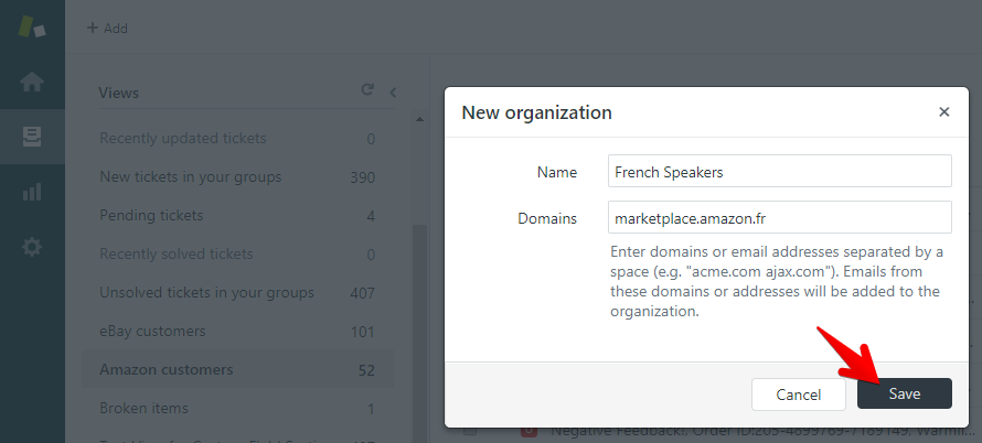 Creating an Organization in Zendesk