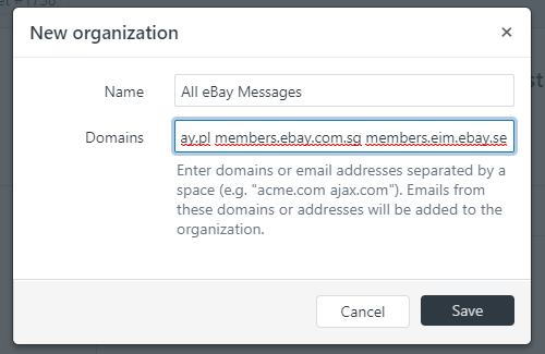 Creating an eBay Messaging Organization in Zendesk