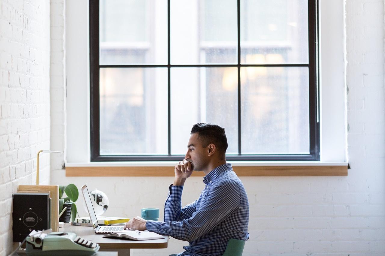 Developer Working by a Window