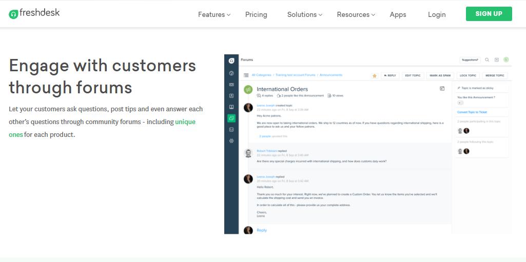Freshdesk Forums