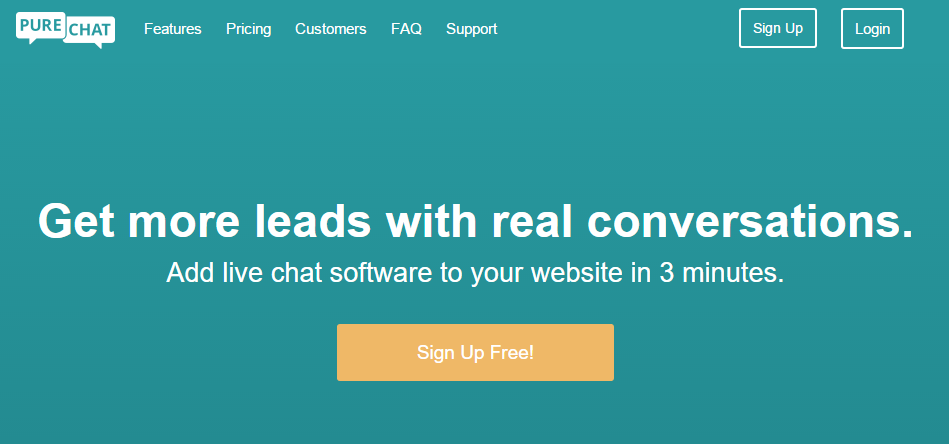 PureChat Signup