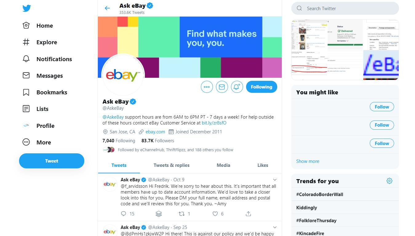 Ecommerce Customer Service over Twitter