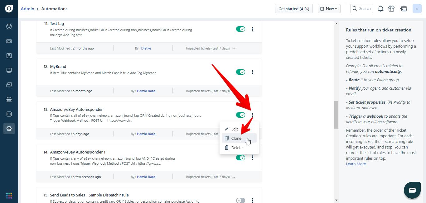 Clone option for autoresponders in Freshdesk