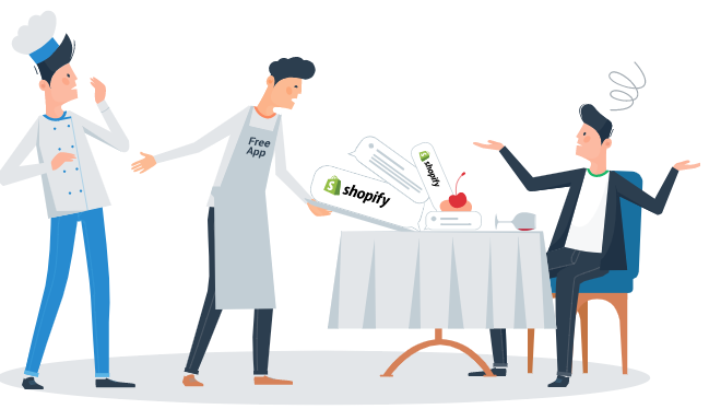 Free App the Waiter Spilling Shopify Data Everywhere
