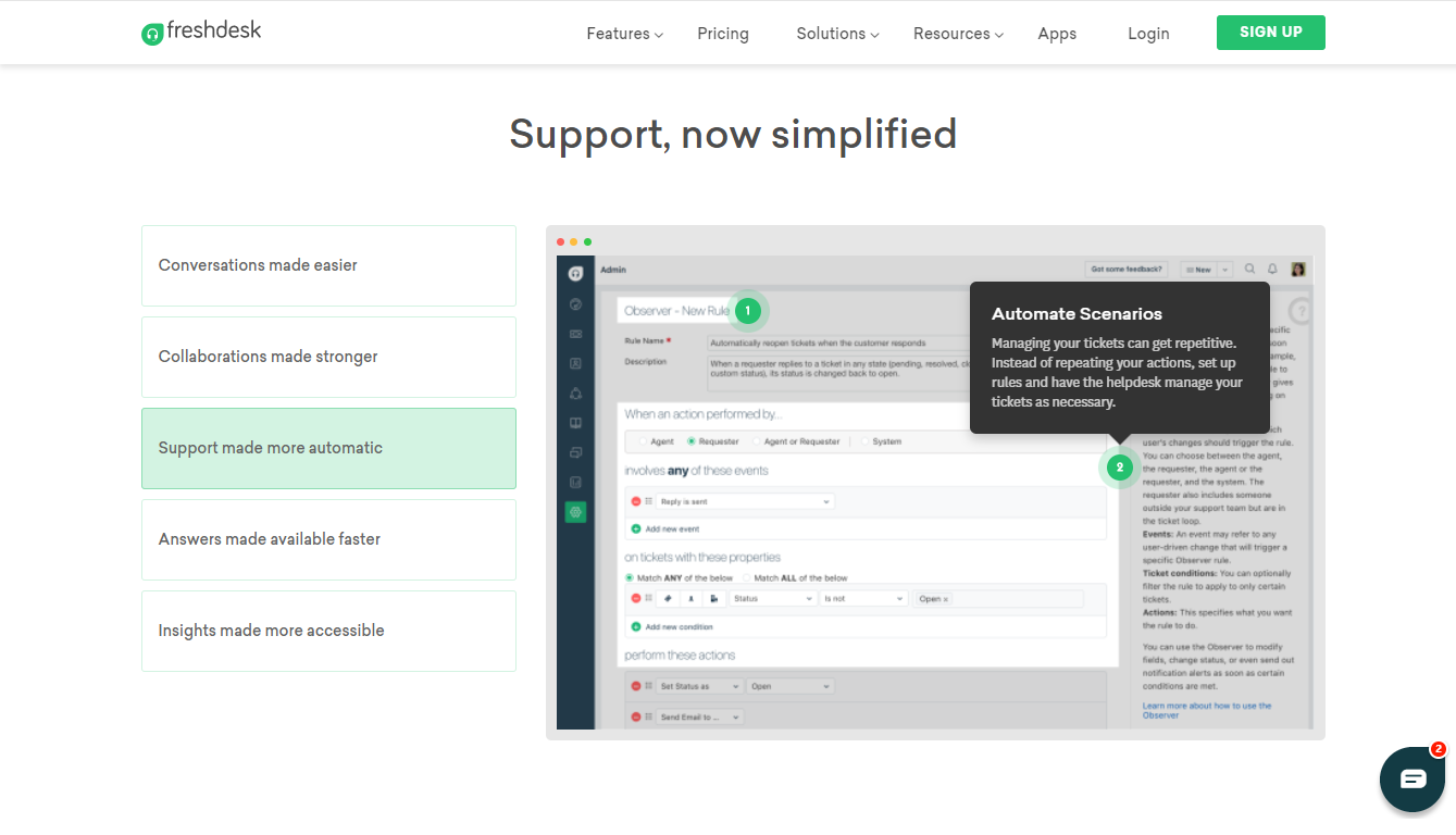 Support Now Simplified with Freshdesk