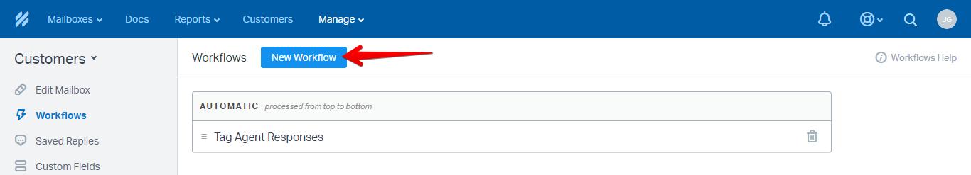 New Workflow Button