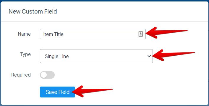 Item Title Custom Field