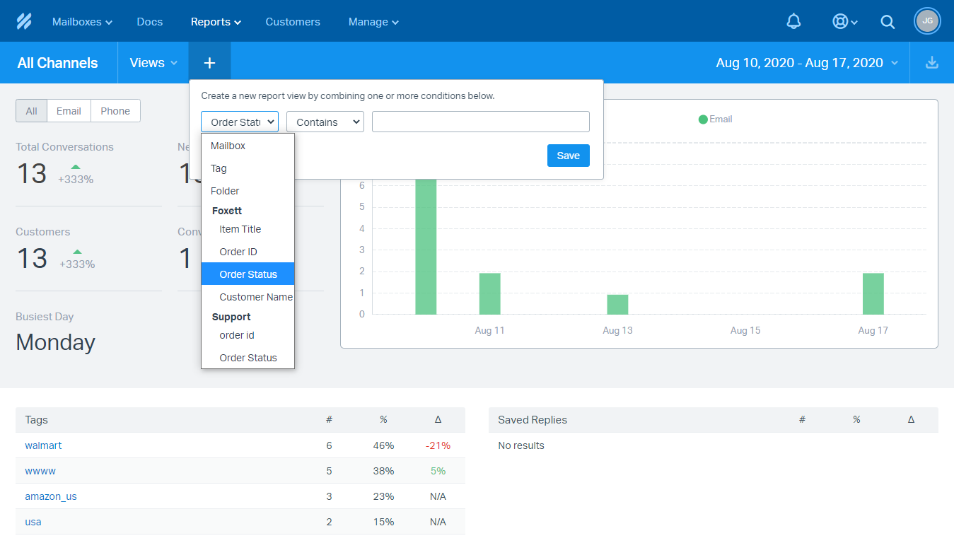 Creating a Custom-Field-Based Reporting View in Help Scout