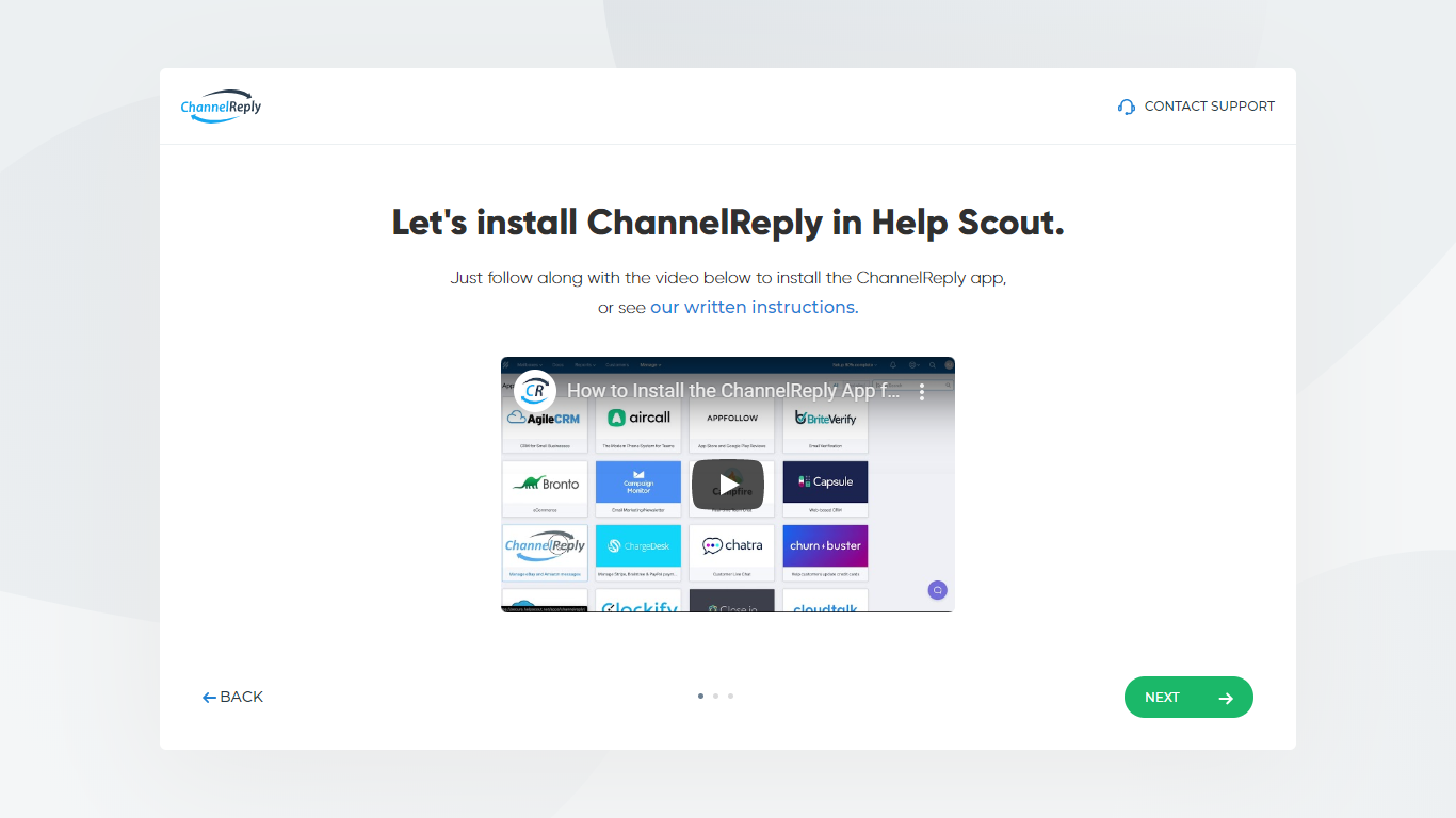 Let's Install ChannelReply in Help Scout