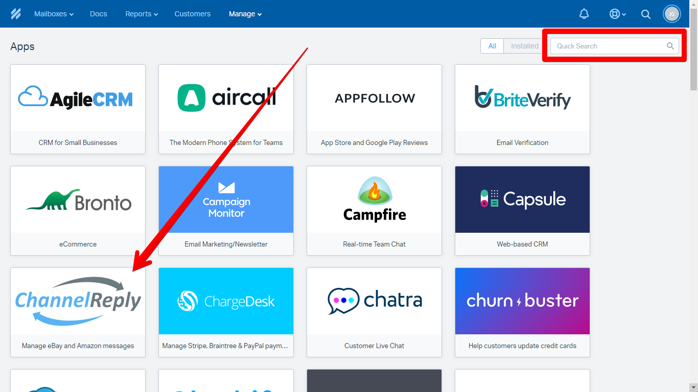 ChannelReply in the Help Scout App Directory