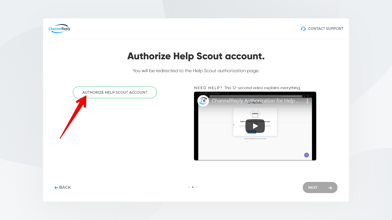 Authorize Help Scout Account