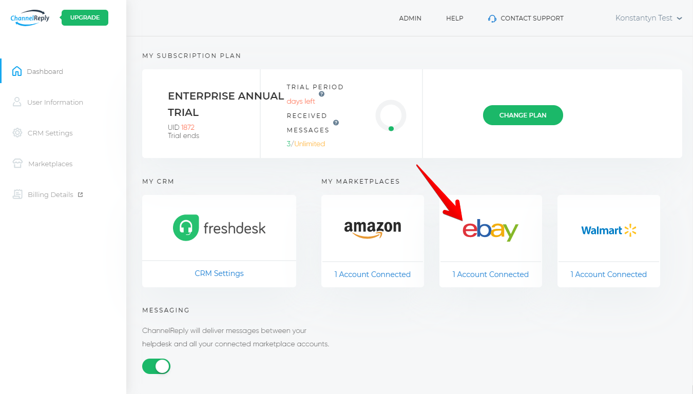Manage eBay Integration in ChannelReply
