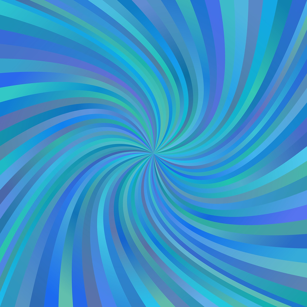 Hypnotic Pattern in Cool Colors