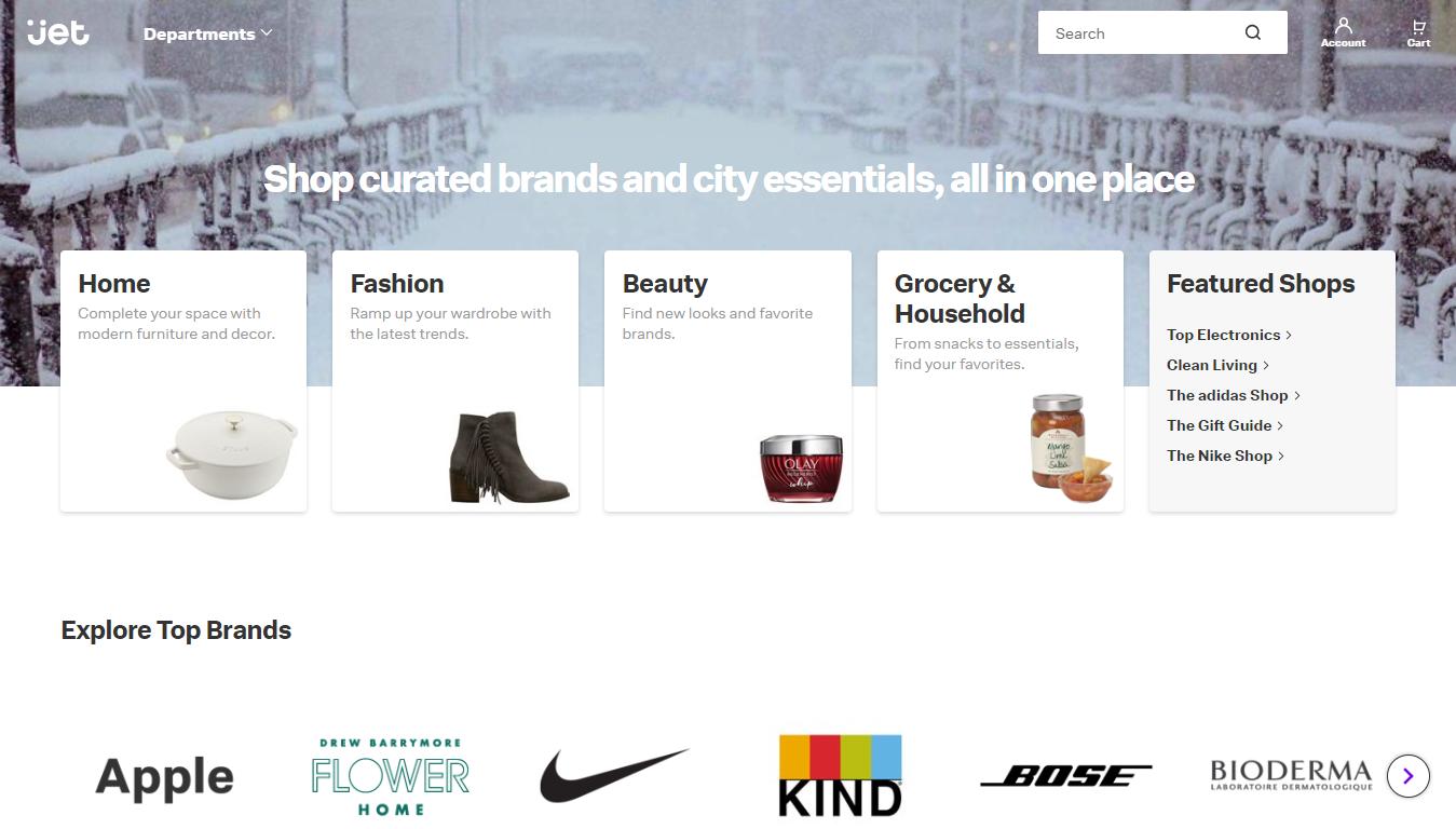 Jet.com Homepage, 2020