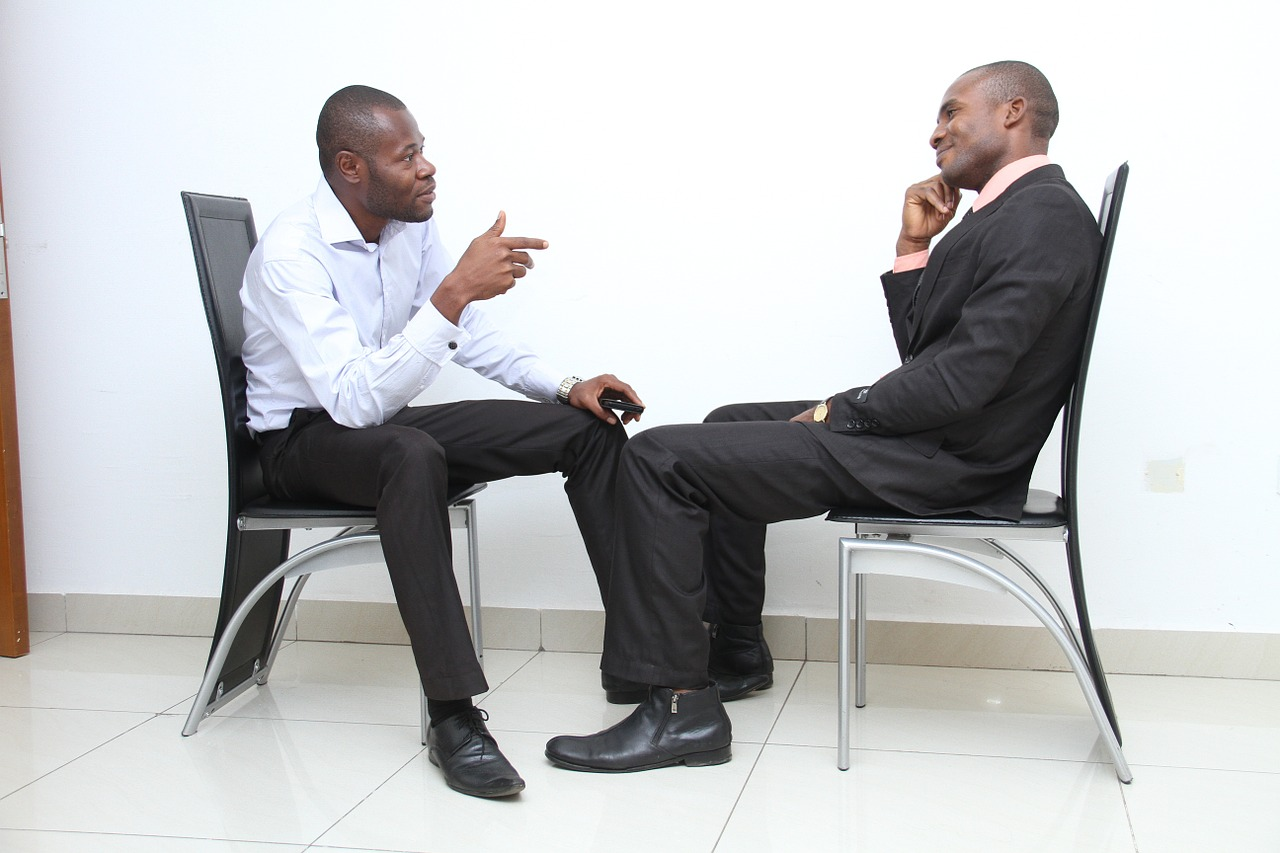 Two Businessmen in a Job Interview