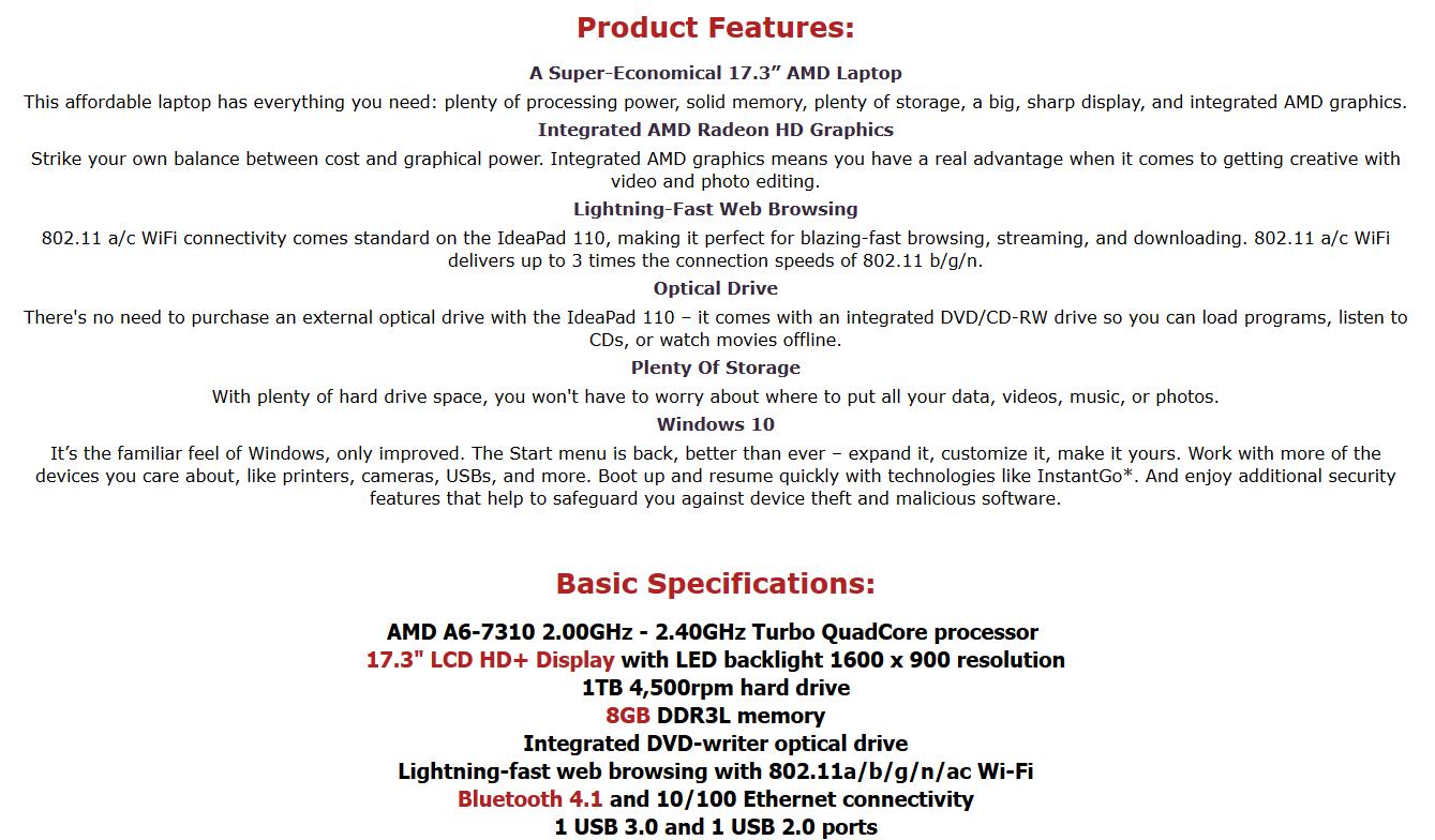 Lenovo IdeaPad eBay Description by auctioneersdeals