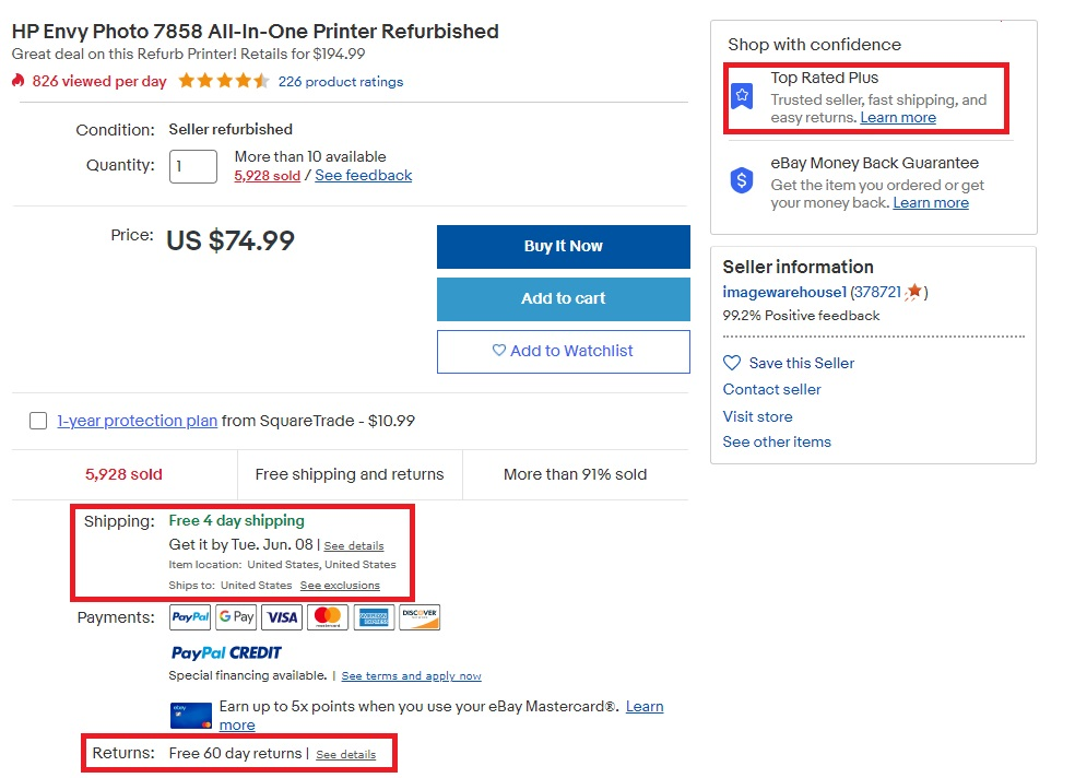 Meeting eBay TRS Shipping Requirements