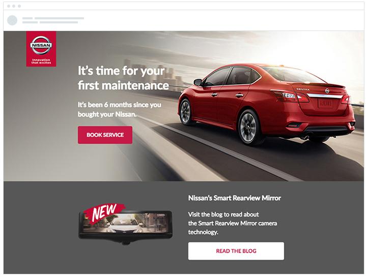 Nissan Maintenance Reminder Email