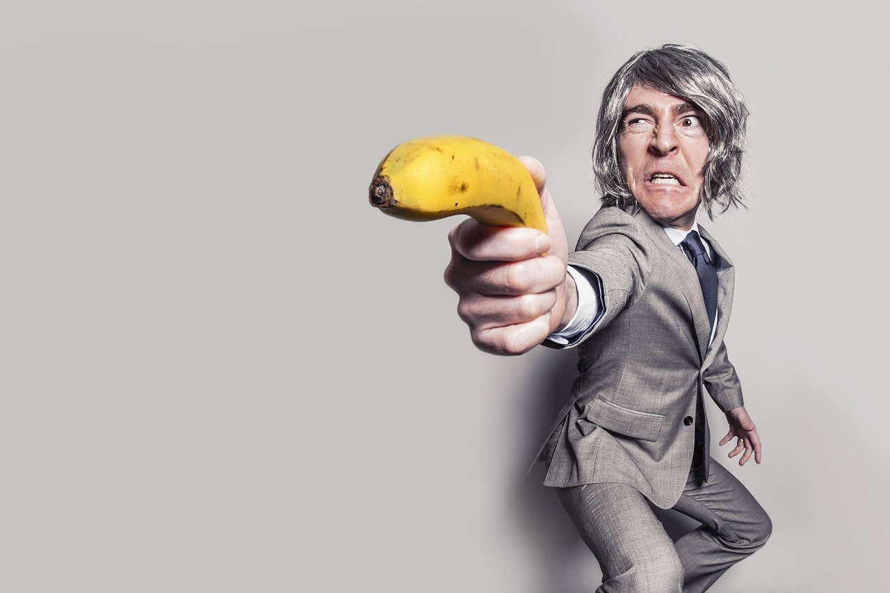 Man Armed with a Banana