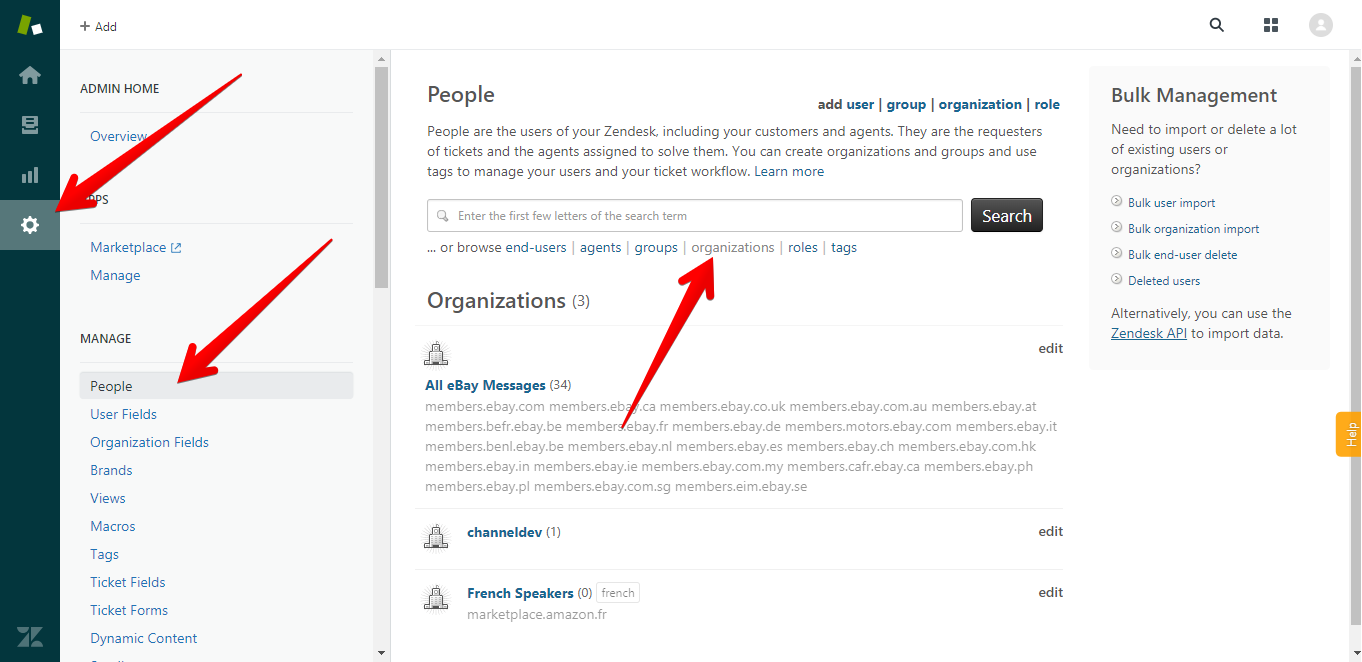 Where to Find Organizations in Zendesk