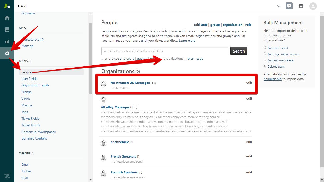 Where to Edit Zendesk Organizations