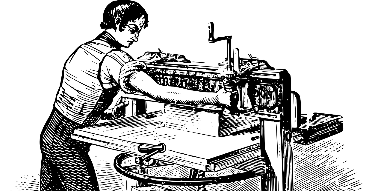 Printing Press Illustration