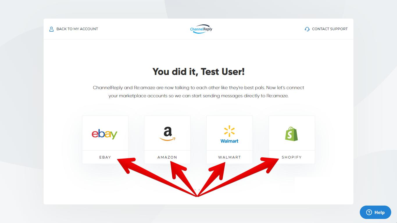 Integrate Amazon, eBay or Walmart with Re:amaze