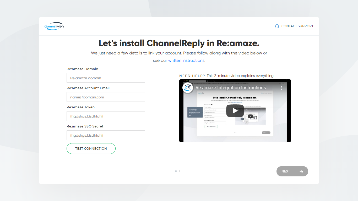 ChannelReply-Re:amaze Integration Setup