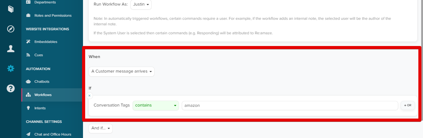 Using ChannelReply Tags in Re:amaze Workflows