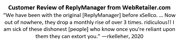 Reply Manager Review by rkelleher from WebRetailer