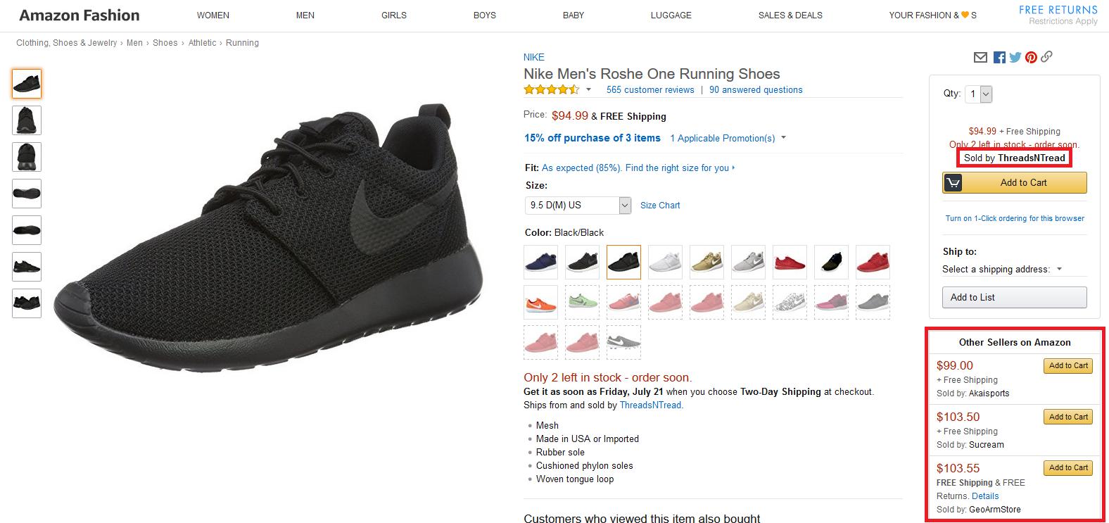Nike Resellers on Amazon