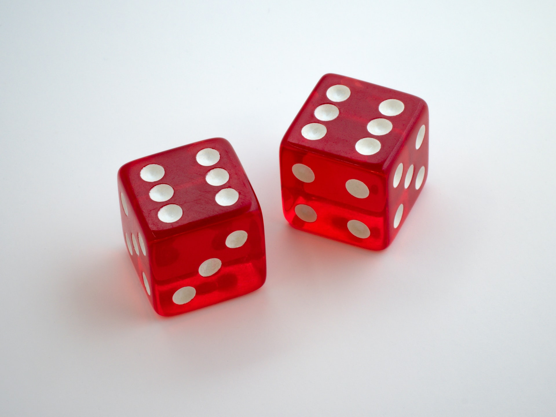 Two dice showing sixes