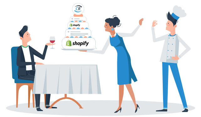 ChannelReply Waitress Serving a Cake of Shopify Data