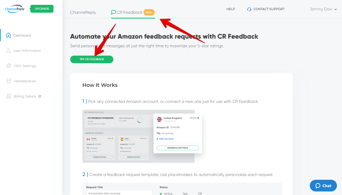 How to Sign Up for CR Feedback in ChannelReply